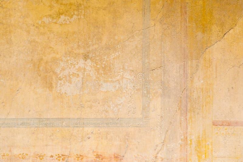 Texturas de las paredes del color de las ruinas antiguas de Pompeya imagen de archivo libre de regalías