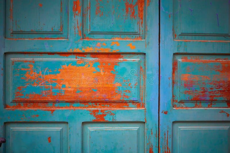 Texturas de madeira da porta de Zamora na Espanha foto de stock royalty free