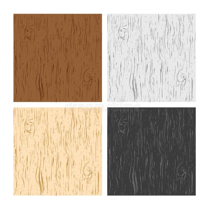 Texturas de madera ilustración del vector