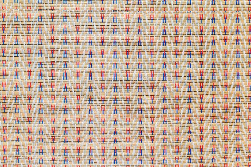 Texturas de mimbre multicoloras asiáticas del modelo imágenes de archivo libres de regalías