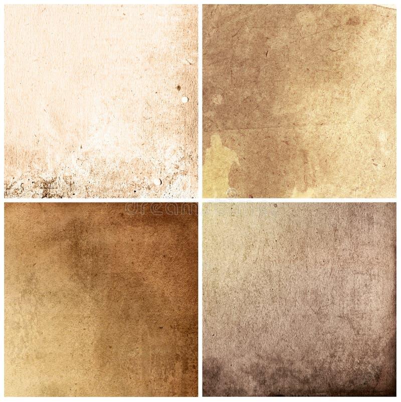Texturas de papel velhas fotografia de stock royalty free