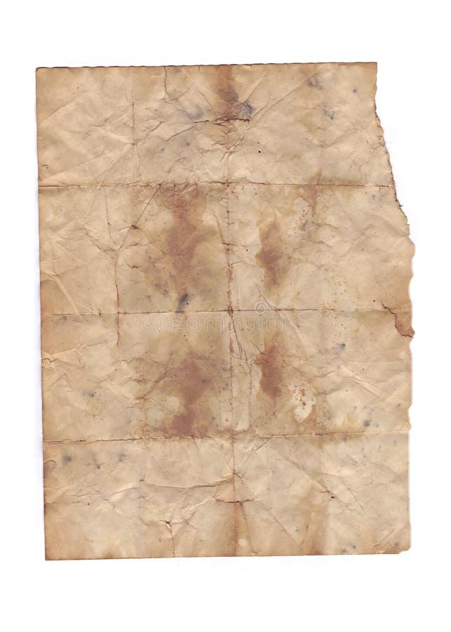 Texturas de papel velhas no fundo branco foto de stock