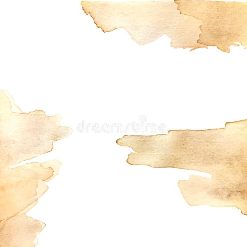 Texturas del fondo de la acuarela Fondo único Fondo del vector Texturas del vector ilustración del vector