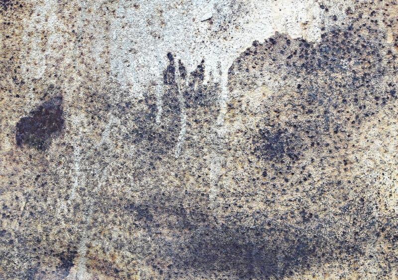 Texturas do fundo da chapa metálica O problema de texturas oxidadas velhas do metal do ferro fotografia de stock