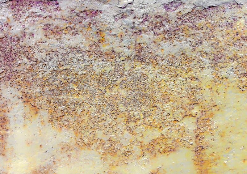Texturas do fundo da chapa metálica O problema de texturas oxidadas velhas do metal do ferro fotografia de stock royalty free