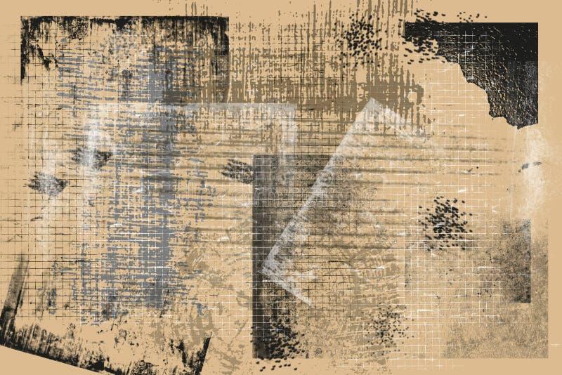 Texturas do ocre do Grunge e fundos - fundo perfeito com espaço para o texto ou a imagem ilustração royalty free