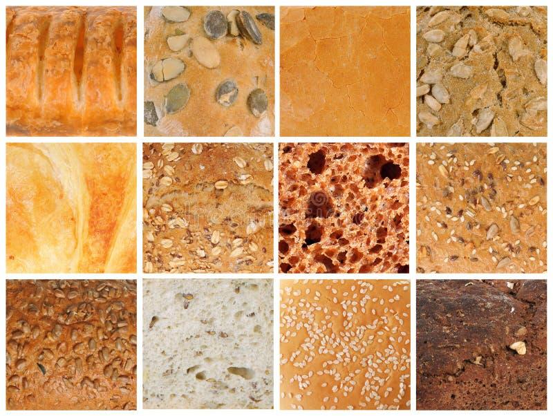 Texturas do pão fotografia de stock royalty free