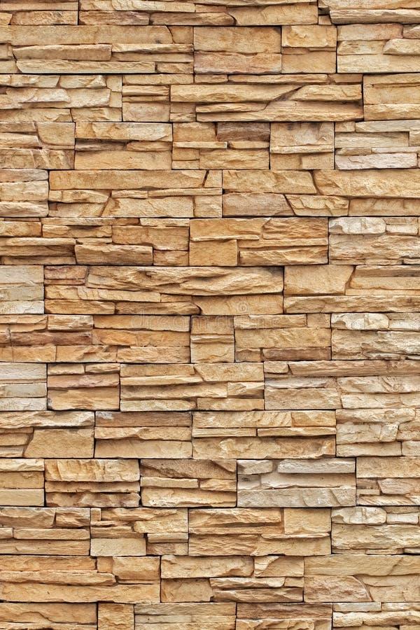 Texturas do tijolo de Brown e fundo, teste padrão vertical fotografia de stock