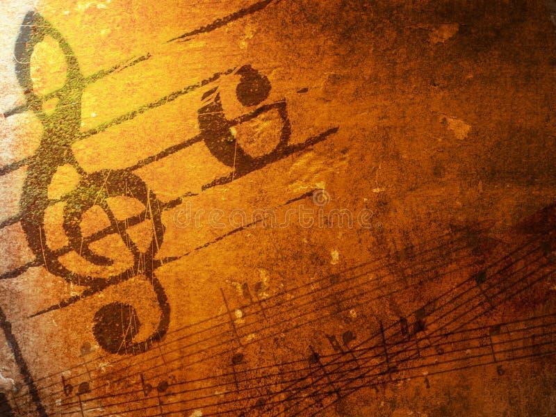 Texturas e fundos da música de Grunge ilustração royalty free