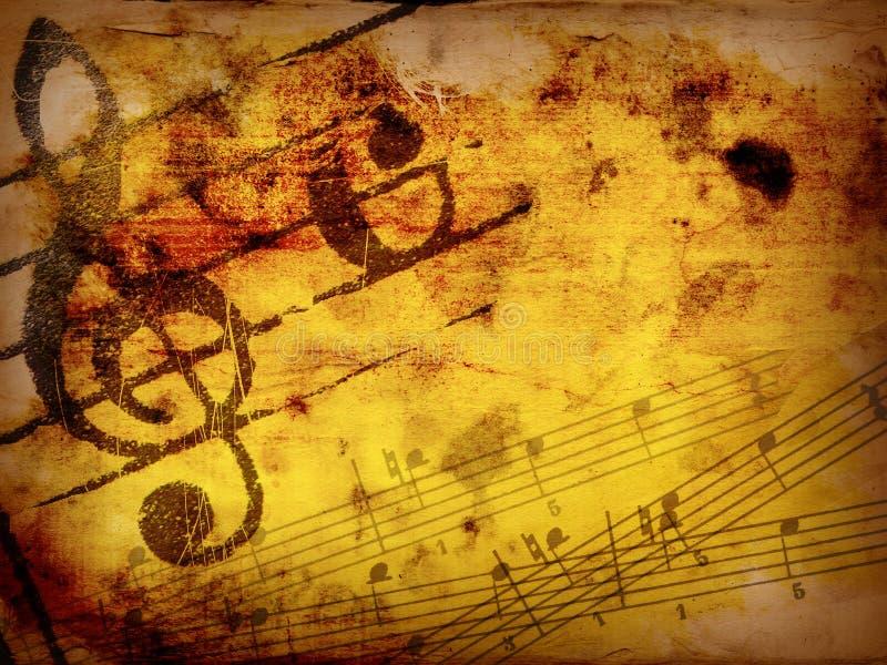 Texturas e fundos da melodia de Grunge ilustração stock