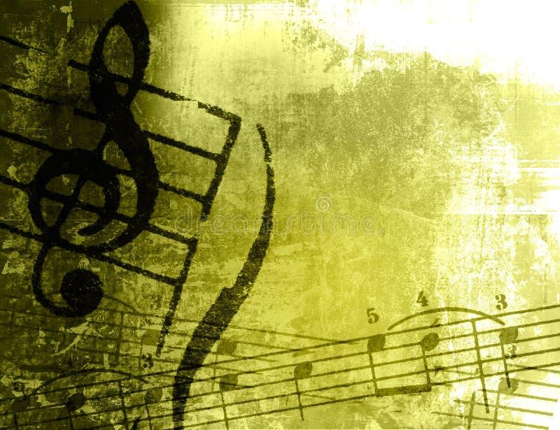 Texturas e fundos da melodia de Grunge ilustração do vetor