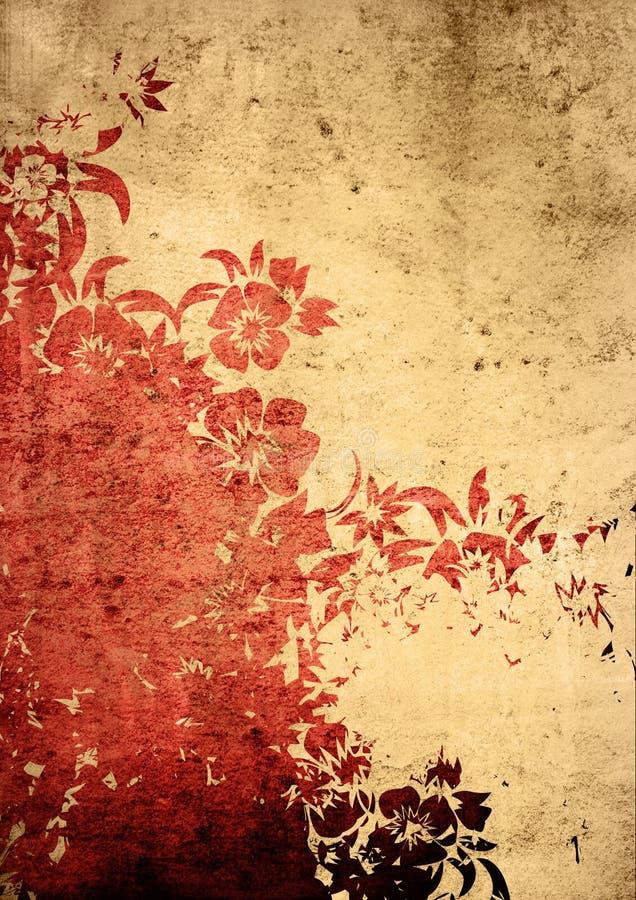 Texturas e fundos do estilo de Ásia ilustração stock