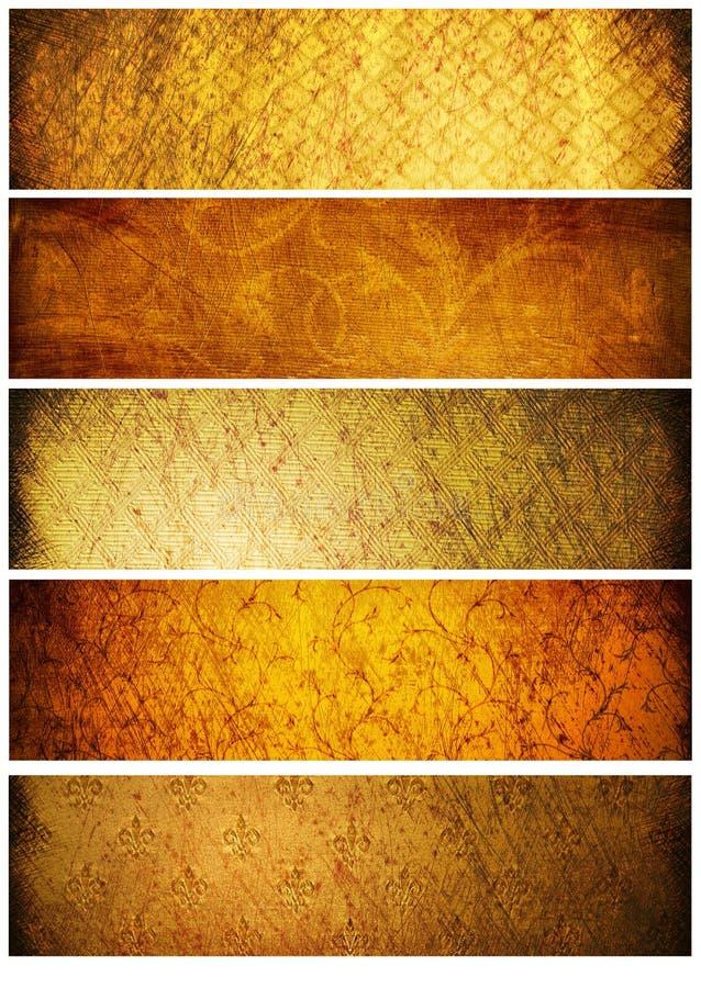 Texturas e fundos do vintage para bandeiras imagem de stock