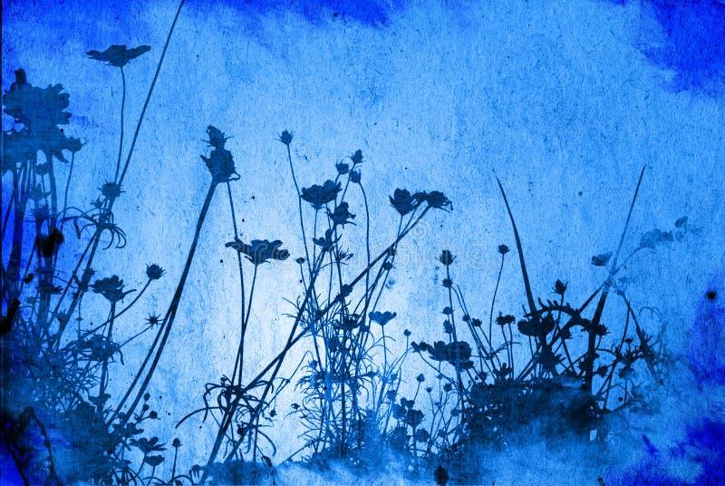 Texturas florais ilustração stock