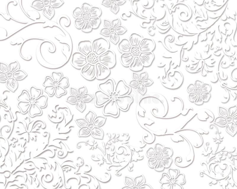 Texturas florais brancas elegantes ilustração do vetor