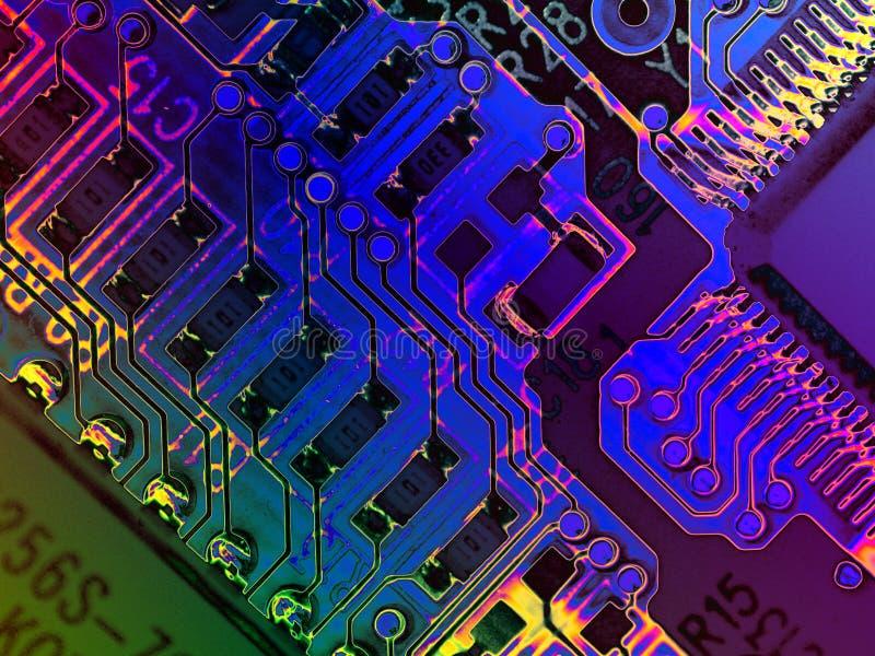 Texturas frescas do computador de Grunge ilustração do vetor