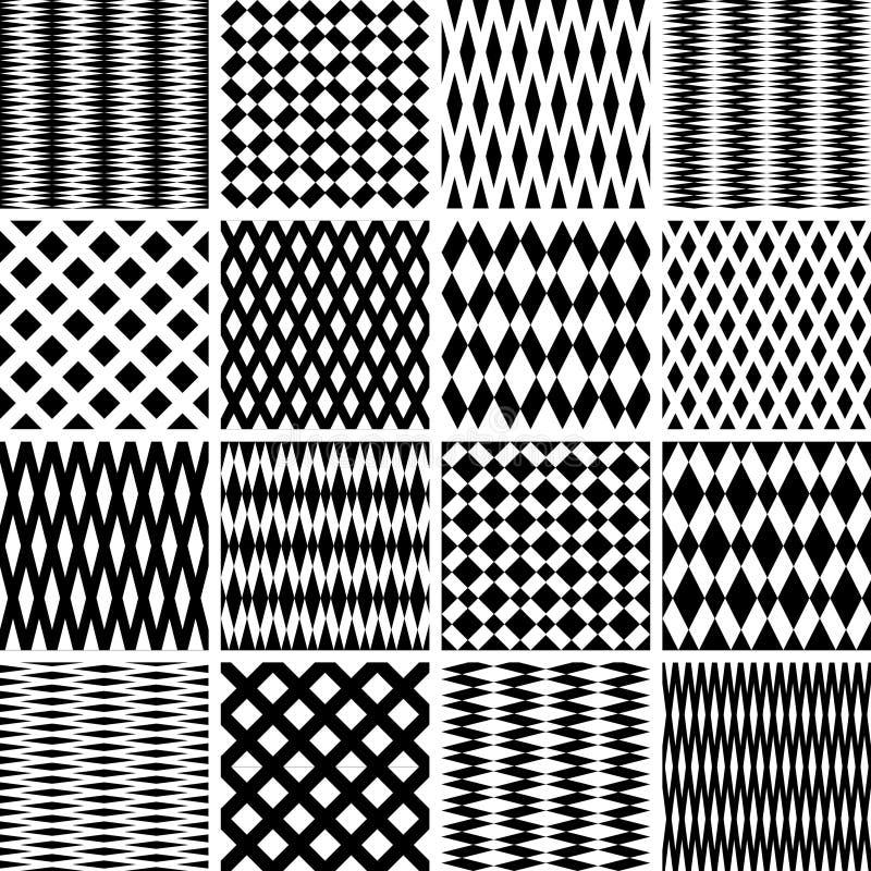 Texturas geométricas. Testes padrões sem emenda ajustados. ilustração stock