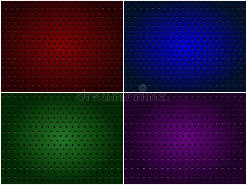 Texturas metálicas com furos foto de stock