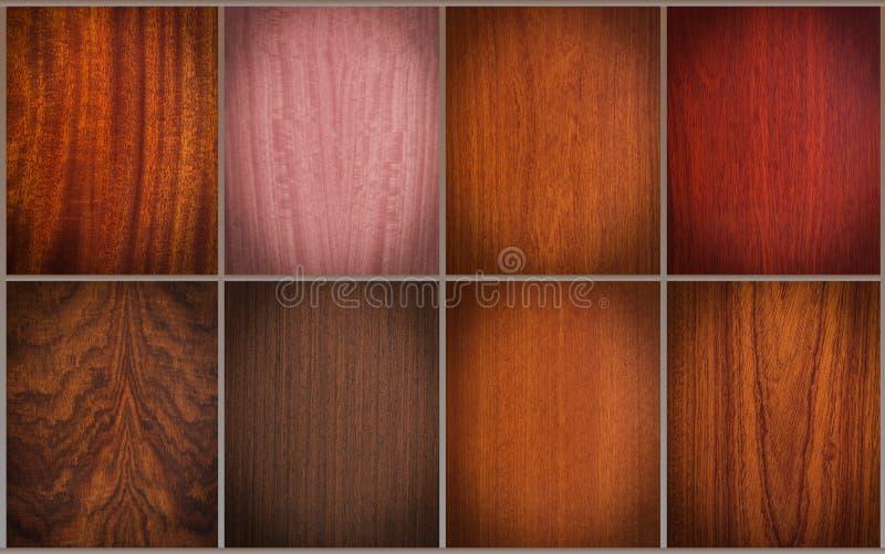 Texturas mezcladas de madera imagenes de archivo