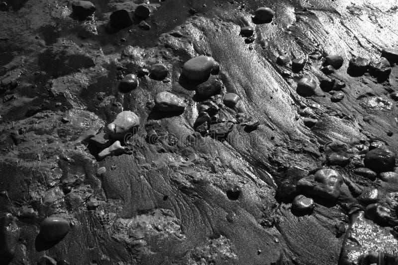 Texturas Mojadas De La Playa Foto de archivo libre de regalías