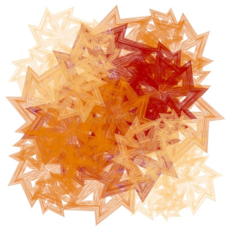 Texturas nas folhas vermelhas do ouro ilustração do vetor