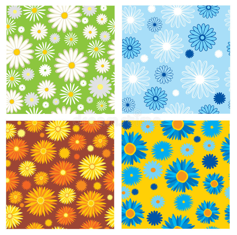 texturas sem emenda das flores ilustração do vetor