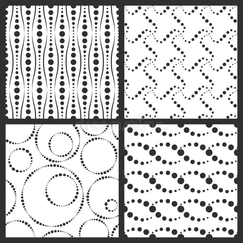 Texturas simples, fondos con los elementos punteados ilustración del vector