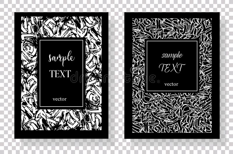 Texturas tiradas mão feitas com pena ilustração royalty free
