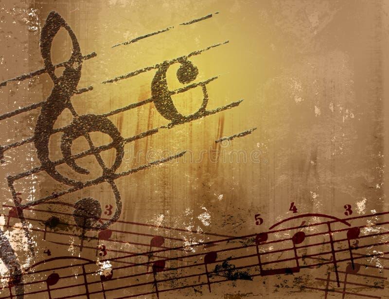 Texturas y fondos de la melodía de Grunge stock de ilustración