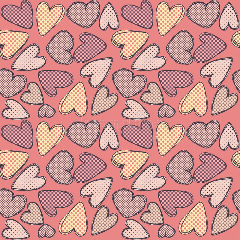 Download Texturate hearts stock vector. Illustration of lovely - 23379439