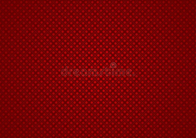 Texture à carreaux rouge illustration stock