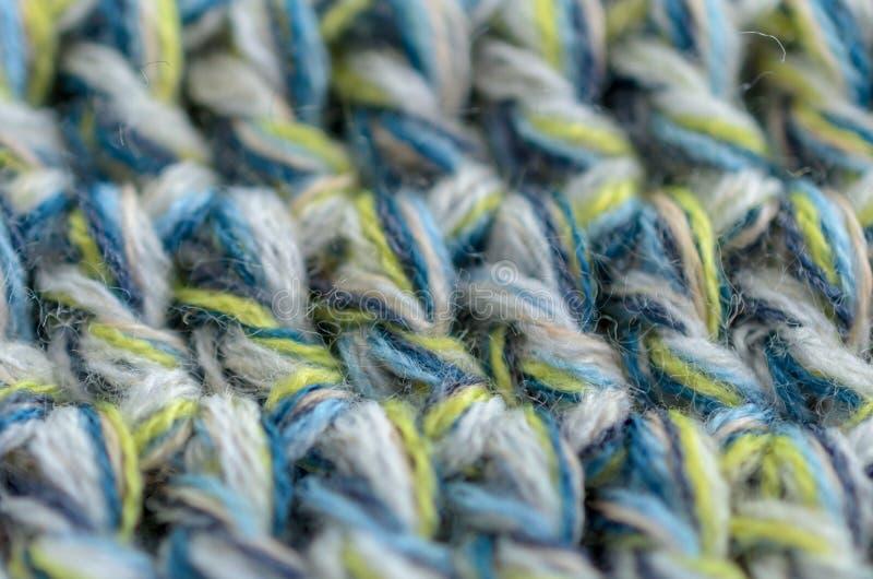 Texture à crochet ou tricotée étroitement, fond de tissu photographie stock libre de droits