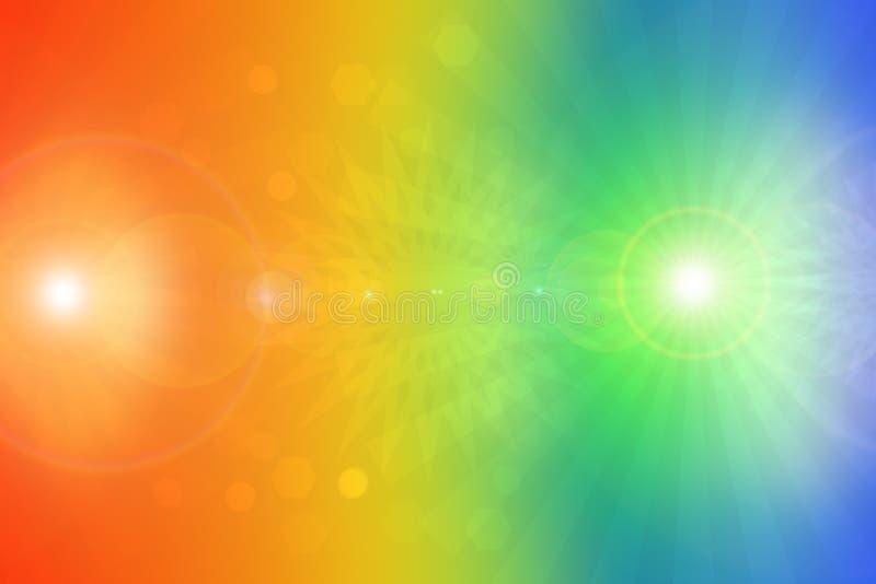 Texture élégante bleue orange de fond de fractale de résumé avec les rayons de la lumière colorés Formation liquide de turbulence photographie stock libre de droits