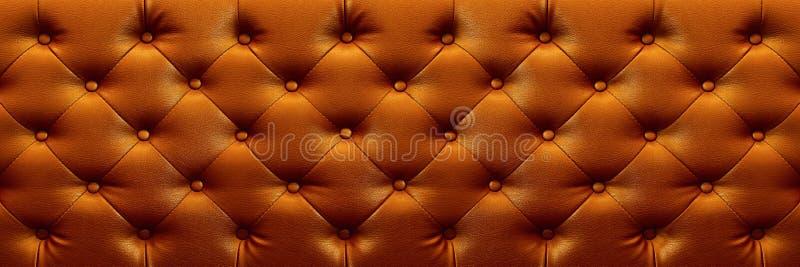texture élégante horizontale de cuir de brun foncé avec des boutons pour b photo stock