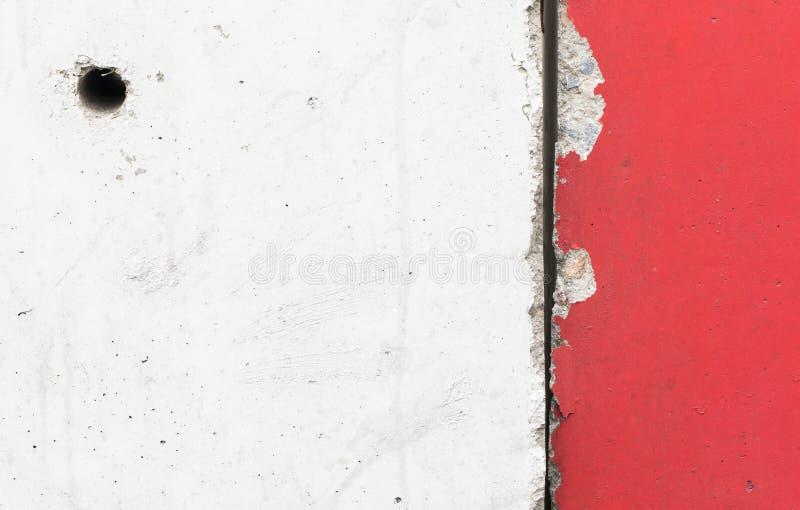 Download Texture épaisse De Mur De Ciment Dans Le Blanc Rouge Photo stock - Image du modifié, fond: 77158758