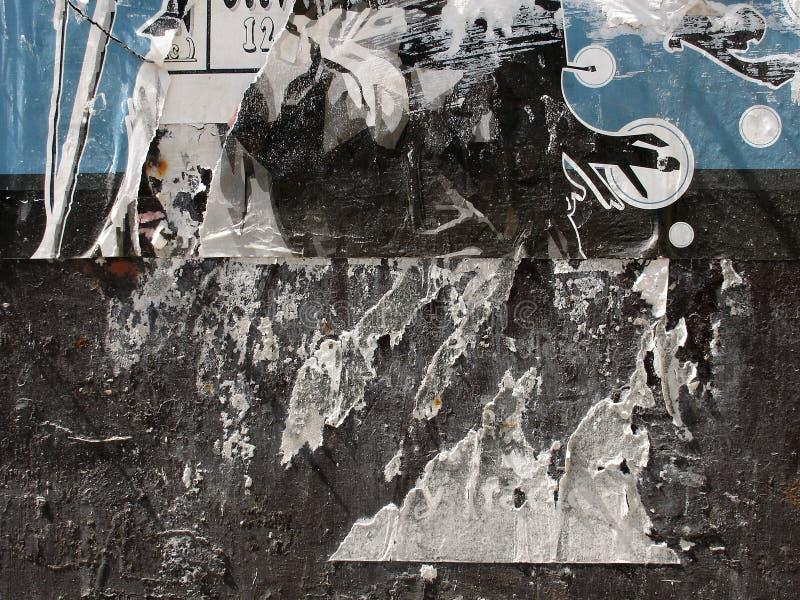 Texture 03 de panneau d'affiche photographie stock libre de droits