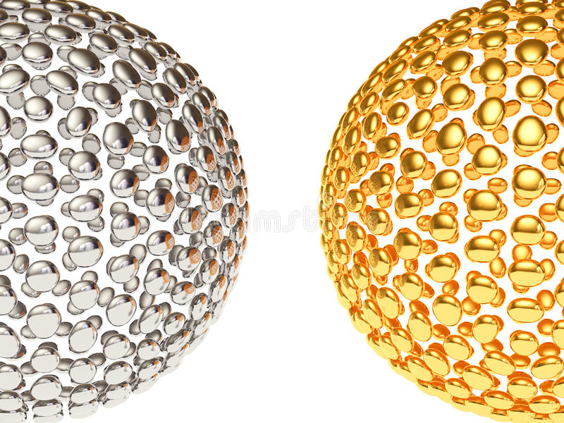 Texture. Two sphere on white background stock illustration