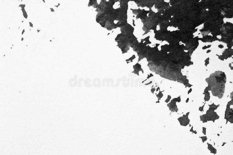Texture abstract background stain ink, black and white. royalty free stock photography