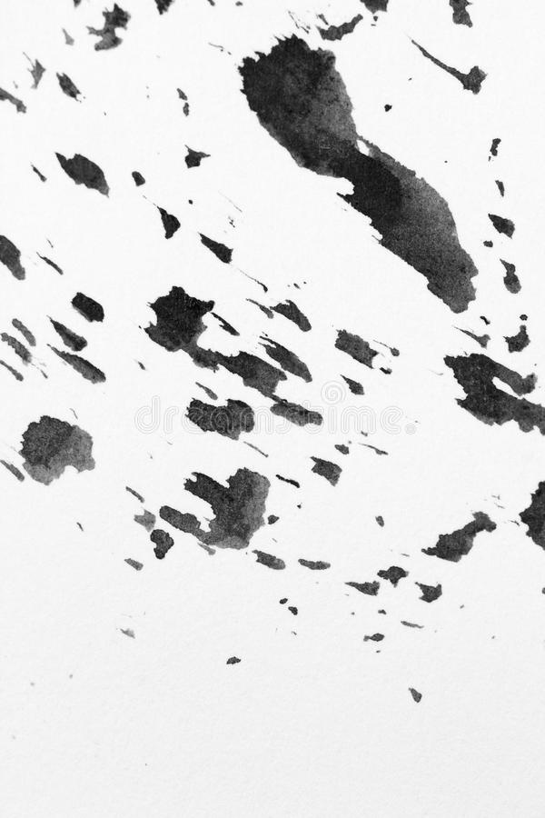 Texture abstract background stain ink, black and white. stock images