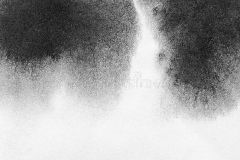 Texture abstract background stain ink, black and white. stock photography