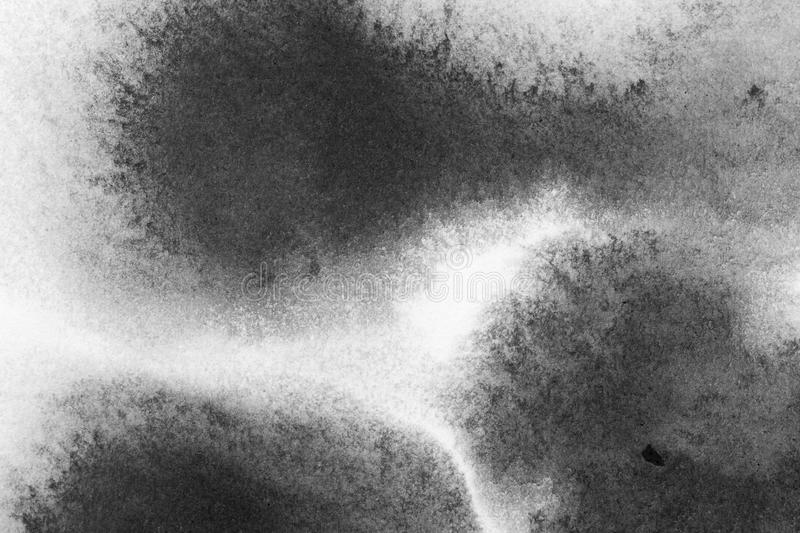 Texture abstract background stain ink, black and white. stock photo