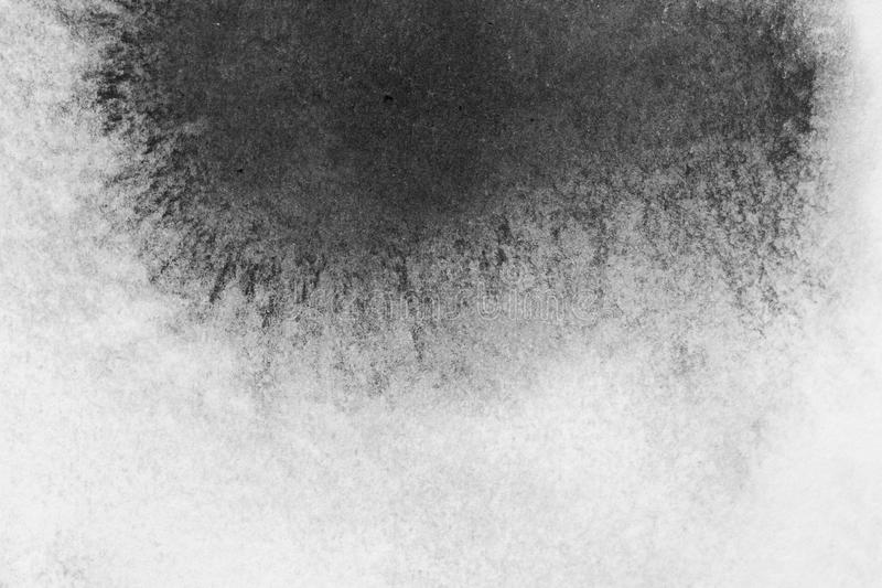 Texture abstract background stain ink, black and white. royalty free stock photo