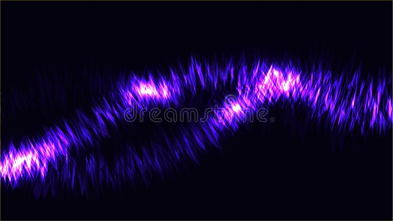 The texture of abstract blue cosmic magical glowing bright shining neon lines of waves of strips of threads of energy patterns. And copy space. The background vector illustration