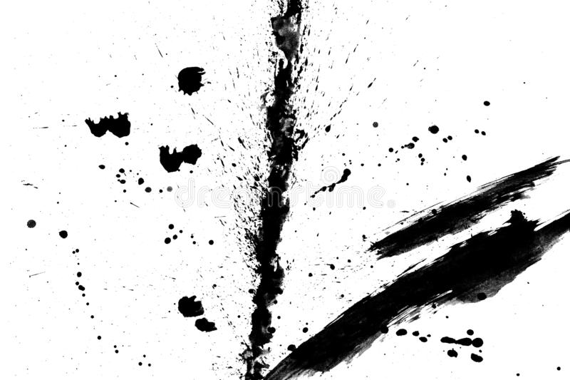 Texture abstract japanese ink on white paper Background. For web,game design, design cover, presentation, invitation, flyer, poster, Dark Smear , wallpaper royalty free stock image