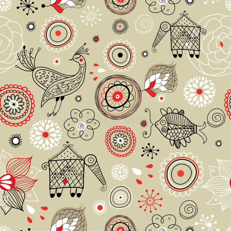 The texture of the abstractions and fabulous anima stock illustration