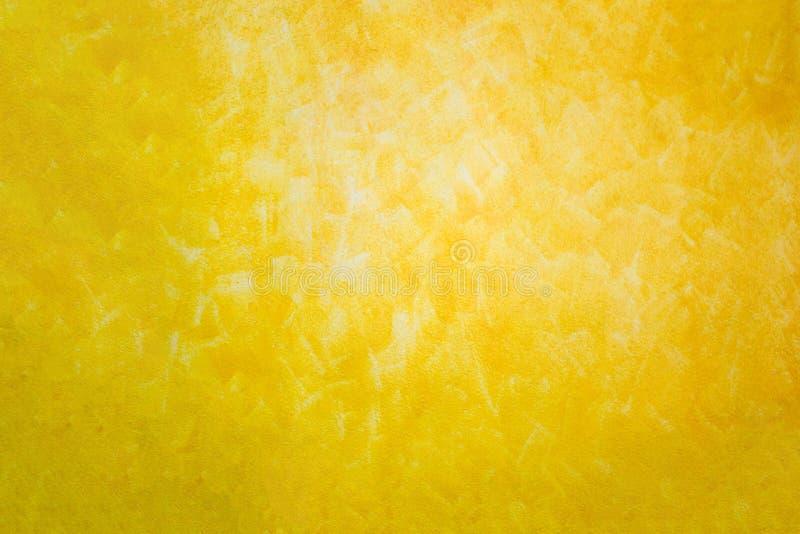 Texture abstraite colorée, peinture à l'huile sur la toile, textur jaune photographie stock