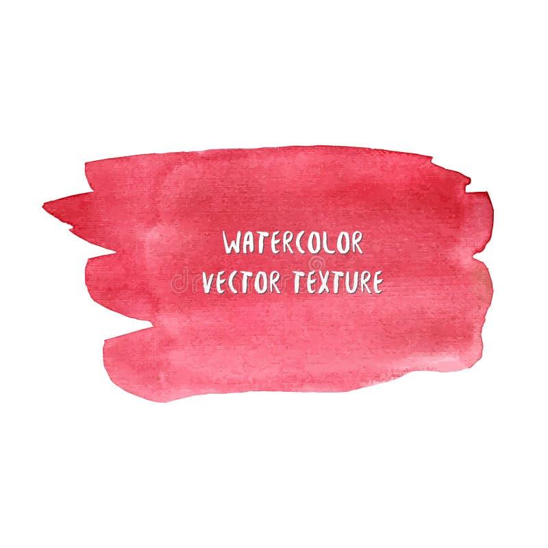 Texture abstraite d'aquarelle dans la couleur rouge Fond d'été d'aquarelle Contexte élégant illustration de vecteur