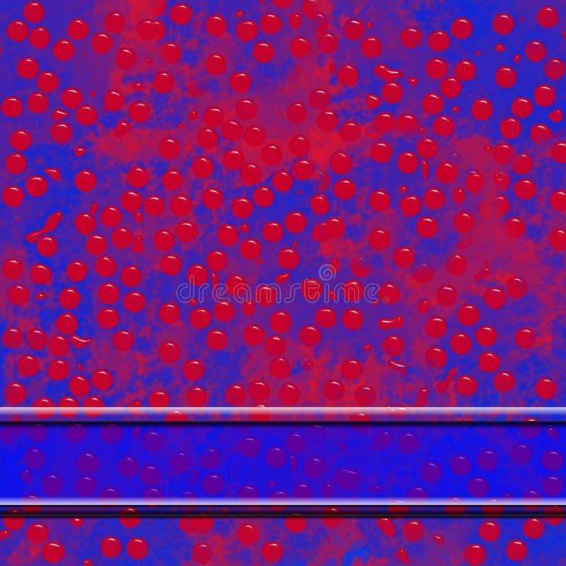 Texture abstraite d'arrière-plan bleu rouge avec bannière transparente et bulles brillantes photographie stock