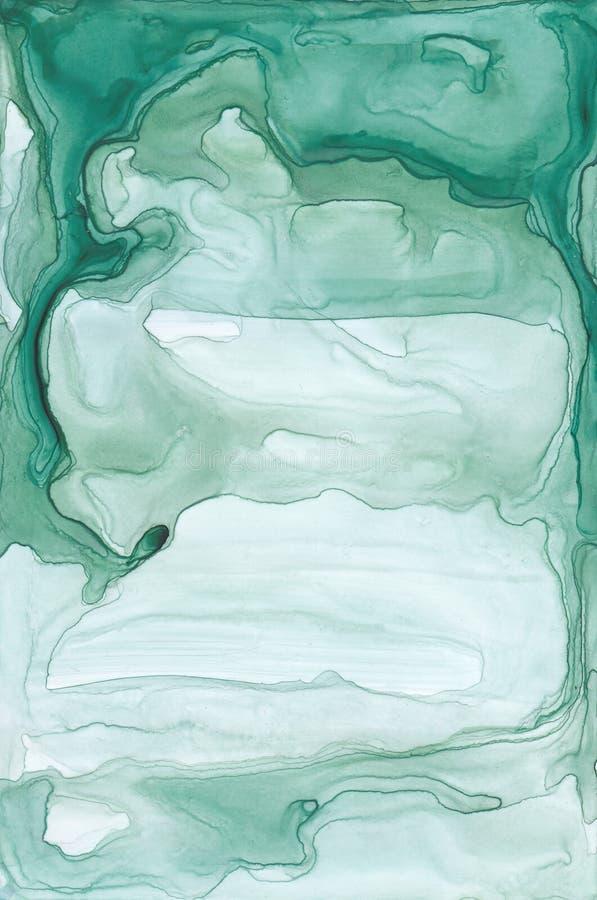 Texture abstraite d'encre Fond lumineux d'aquarelle pour vos conceptions Art moderne illustration de vecteur
