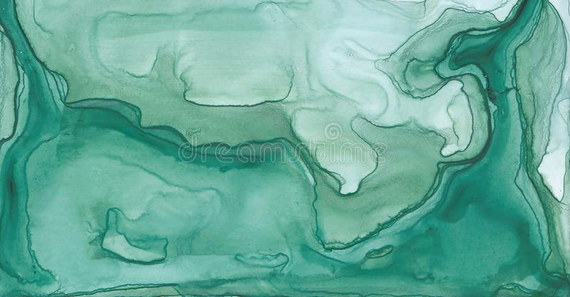 Texture abstraite d'encre Fond lumineux d'aquarelle pour vos conceptions Art moderne illustration stock